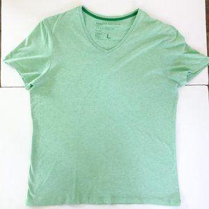 Banana Republic Green V-Neck T-Shirt